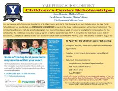 Yale Public Schools Childrens Center Scholarship